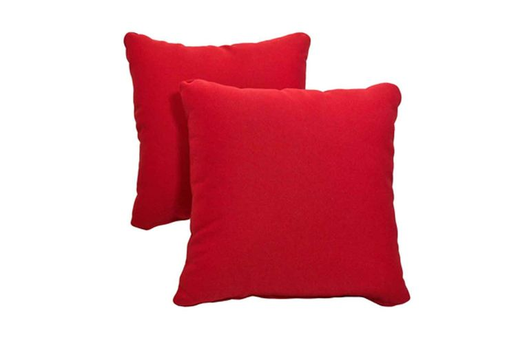 """Included with purchase are two outdoor pillows in 15""""x15"""" Dola All Weather fabric."""