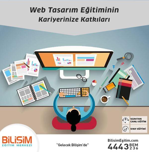 Web Tasarım Eğitiminin Kariyerinize Katkıları  Web Tasarım eğitimi sonrasında, kursiyerler kendi işlerinin sahibi olabilmekte, home office ve freelance çalışabilmektedir. Ayrıca eğitim süresince öğretilen kapsamlı bilgiler sayesinde, programlar ve yazılımlar arasındaki entegrasyonda sağlanmaktadır.  Web Tasarım eğitimi, en güncel web tasarım programlarına hakim olunmasına olanak sağlayarak, rakiplere göre avantaj sunmaktadır.  http://bit.ly/webtasarimegitimi 444 32 36 #webtasarım #tasarım
