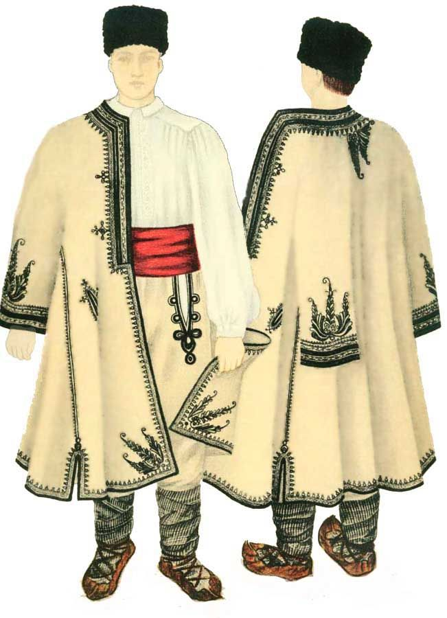Traditional folk costume for men, Mehedinti county, Oltenia
