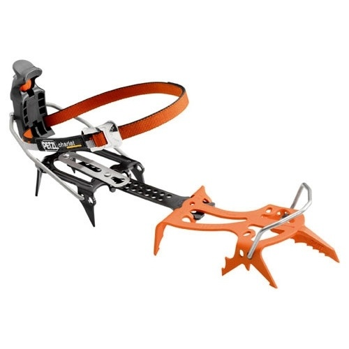 Petzl dart   Mono-point crampon for ice and mixed climbing. The DART is the crampon for extreme mixed and ice climbing. The mono-point is designed to displace less ice and make for precise placements on micro-edges. The third row of points is angled towards the rear for hooking in steep terrain or around ice columns. Ultra-lightweight.