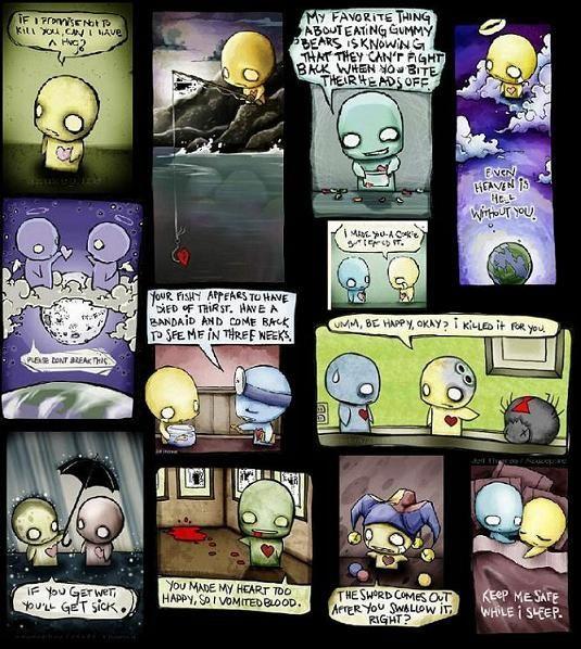 Cute Emo Cartoons | cute emo love cartoons