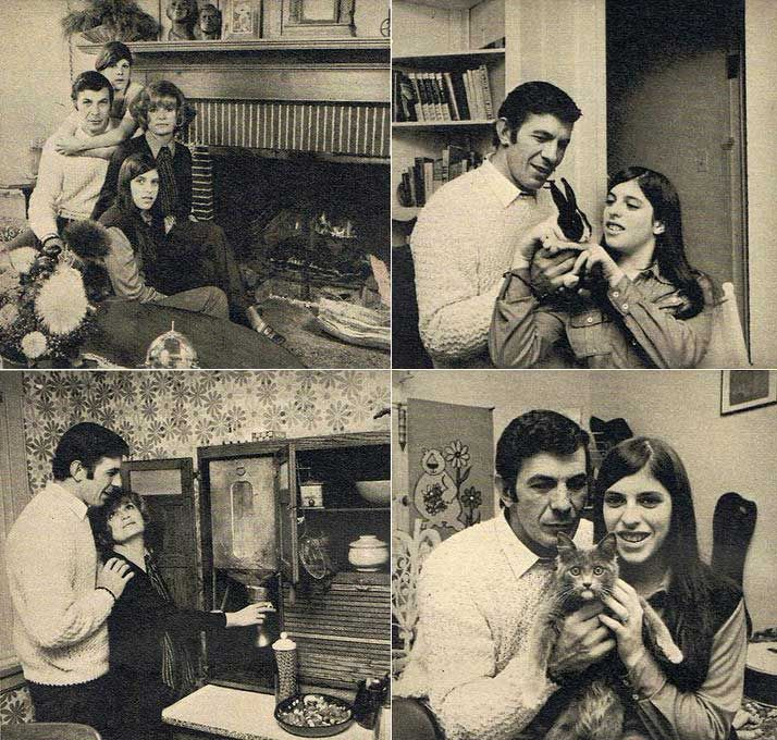 Leonard Nimoy with his then-wife Sandra Zober and their kids Adam Nimoy and Julie Nimoy