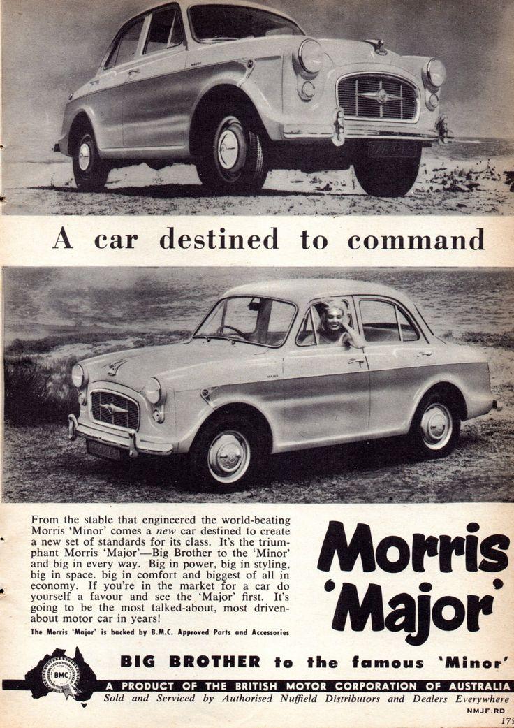 https://flic.kr/p/MFgQcD   1958 Morris Major BMC Aussie Original Magazine Advertisement