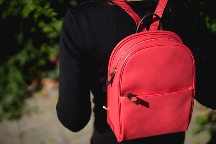 Coral leather backpack: The Benchpack