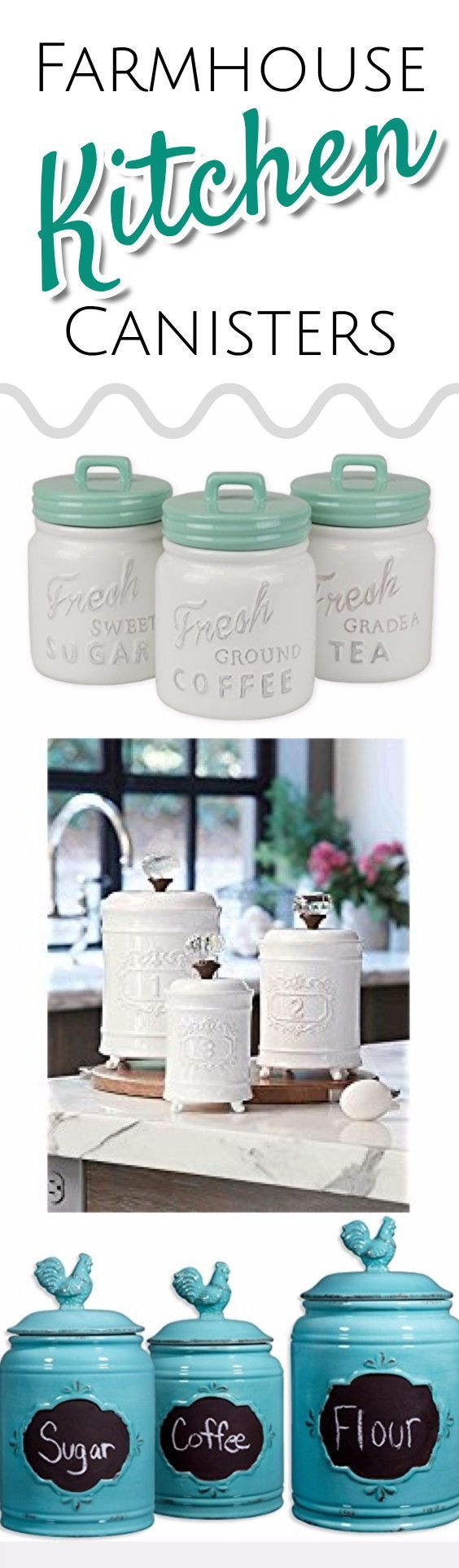 Farmhouse style canister sets - farmhouse kitchen decorating ideas