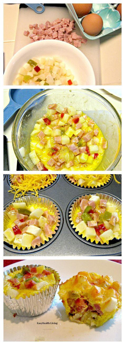 Print Southwestern Omelet Cups   Ingredients 1½ cups potatoes o'brien, thawed 3 eggs, lightly beaten ⅓ cup lean diced ham salt/pepper grated cheese Instructions Preheat oven to 350 degrees Line muffin tin with foil liners and spray with nonstick baking spray. Combine potatoes,eggs, and ham and season with salt and pepper as desired. Divide mixture…