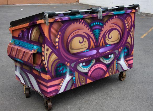 Recycling Bin for Gordon harris Art Supplies  New Market Auckland New Zealand