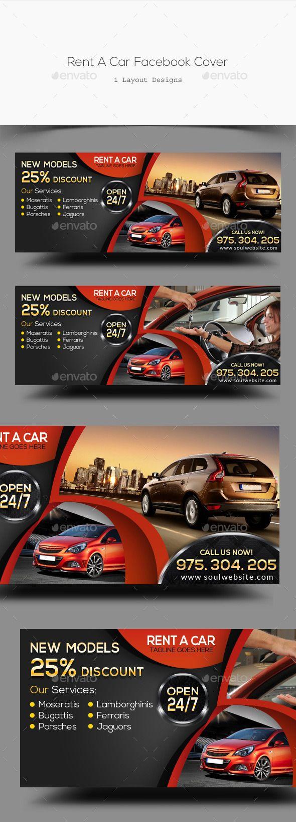 Rent A Car Facebook Cover Template #design #psd Download: http://graphicriver.net/item/rent-a-car-facebook-cover/12776742?ref=ksioks