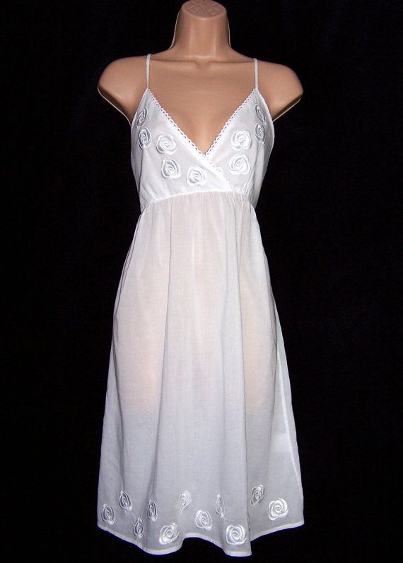 Laura Ashley vintage new with tag, embroidered bust and hem nightdress, nightie, size 16 UK