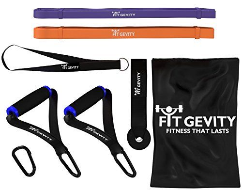 cool Resistance Bands – Heavy Duty 41″ Loop Band Set – Handles, Door Anchor – for Legs, Arms, Pull-Up, Yoga, Pilates, Stretching, Weight Training – Men & Women – No Dumbbells – Best Affordable Home Gym Equipment – Fitness Gear – Lifetime Warranty  Throw Away Your Traditional Resistance Bands! Resistance bands are a fantastic tool for increasing fitness levels at home, work or on the go. They are…