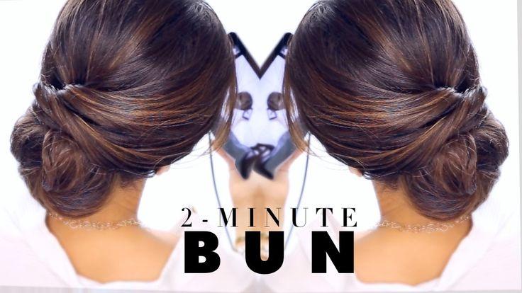 2-Minute Elegant BUN Hairstyle  ★ EASY Updo #Hairstyles