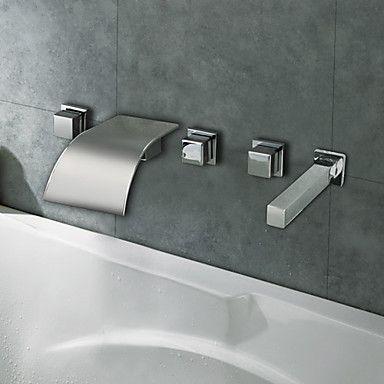 Bathtub Faucet - Contemporary - Waterfall - Brass (Chrome) | zz 488 ideas and window seat | Pinterest | Bathroom, Faucet and Bathtub