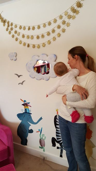 Cloudy babys room mirror - for loving parents.