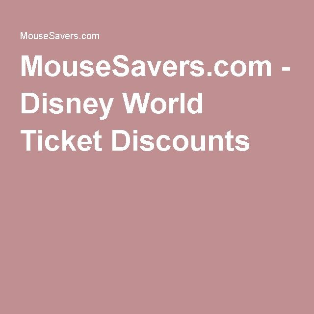 """Join their free newsletter and get exclusive links to """"Official Disney Ticket Discounts"""" Undercover Tourist gives their members exclusive discounts.  MouseSavers.com - Disney World Ticket Discounts"""