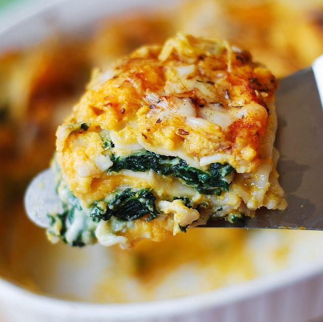Butternut Squash and Spinach Lasagna: very nice blend of favors. I loved it! JMC