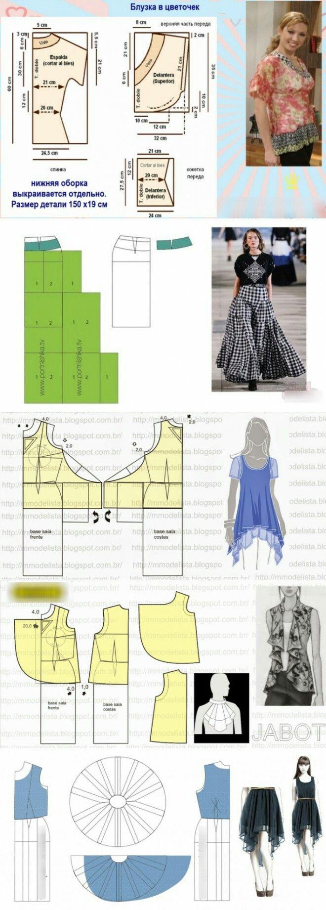Blouse skirt models...<3 Deniz <3