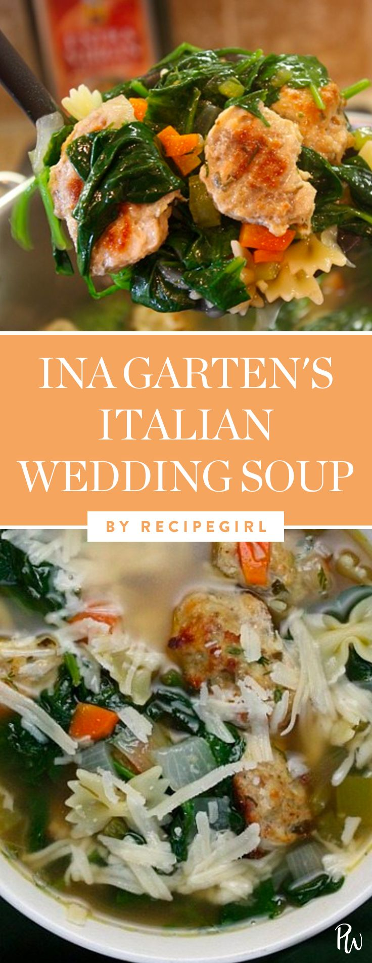 Get this amazing Italian wedding soup recipe by RecipeGirl, and more of the best Ina Garten lunch recipes your friends and family will love here. #inagarten #inagartenrecipes #inagartenlunch #lunchpartyrecipes #lunchrecipes #italianweddingsoup