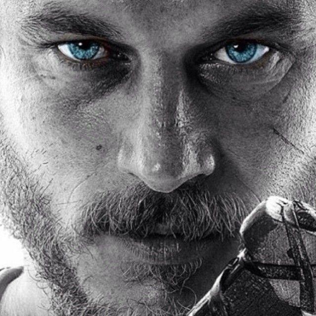Travis Fimmel Vikings promo photo edited by fan.