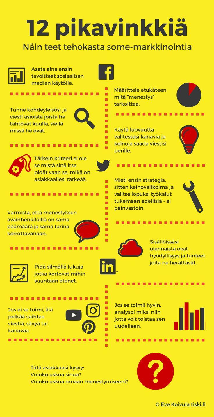 Kuinka teet tehokasta some-markkinointia – 12 pikavinkkiä (infografiikka)