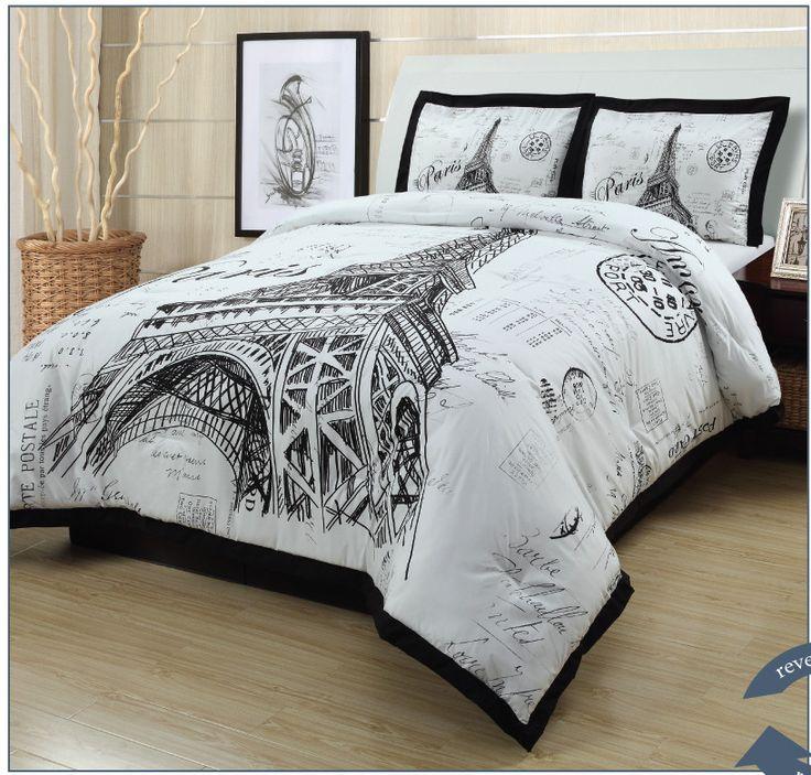 Meet Me In Paris Comforter Set Paris Bedding For College
