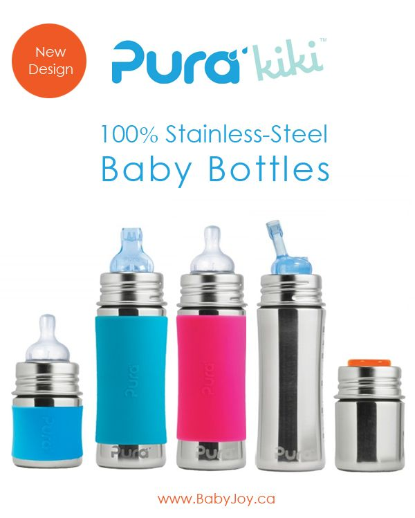 Pura Kiki 'New' Stainless-Steel Baby Bottles. #PuraKiki #BabyBottles