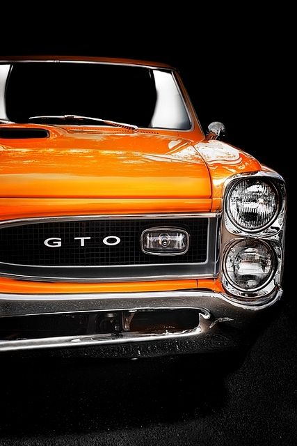 Orange Pontiac GTO. Gorgeous