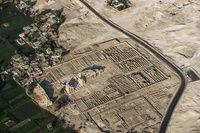 空から見る古代エジプト、 熱気球から遺跡撮影