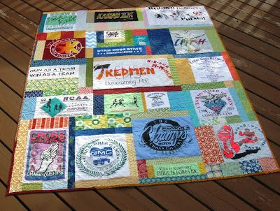 Happy Quilting: T-Shirt Memory Quilt Tutorial