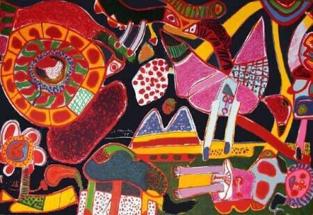 Corneille (1922-2010) was an avant-garde Dutch artist, whose work was influenced by Miro and Klee, as well as African art.