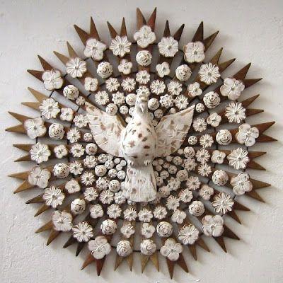 Divino em madeira Oficina de Agosto de Antonio Carlos Bech, o Toti , da Oficina de Agosto, Tiradentes, MG.