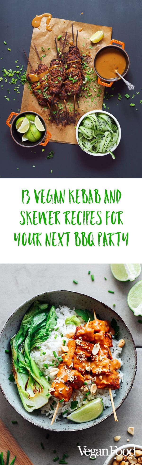 13 vegan kebab and skewer recipes for your next BBQ party