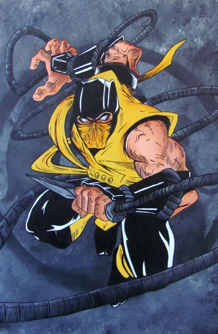 Mortal Kombat Scorpion - inspired by another artists brilliant sketch