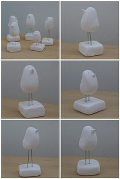 little birds! I can imagine these painted and with a craft feather attached. I'm thinkin 2nd to 4th graders will like this!