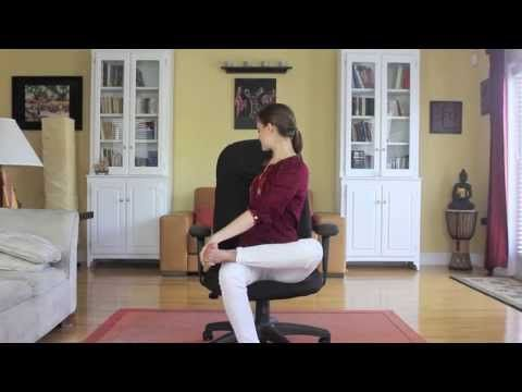 Yoga For The Office - Day 26 - 30 Day Yoga Challenge - YouTube