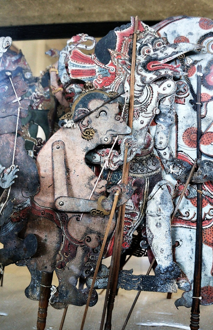 Balinese wayang (hand puppet) is also being collected in the museum. Photo by Raditya Margi.