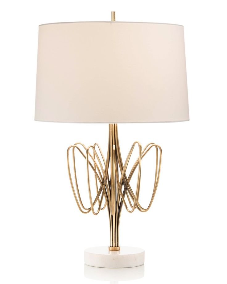 Twisted Brass Bloom Table Lamp Designed by Mark McDowell exclusively for  John-Richard