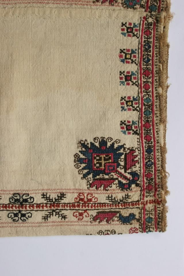 An embroidered sleeve of a woman's shirt.  From Bulgaria/Lovech region, early 20th century.