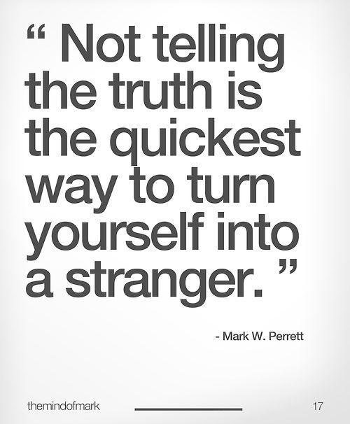 #truth #honesty
