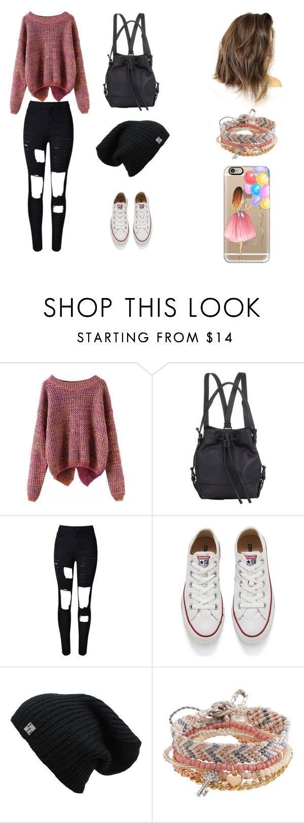 """""""Sin título #162"""" by karenrodriguez-iv on Polyvore featuring moda, Opening Ceremony, WithChic, Converse, Aéropostale y Casetify"""