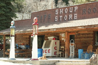 Steel head fishing on the Salmon river has the added charm of a world gone by. The shoup store and a few buildings is what consists of Shoup Idaho.
