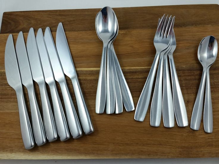 120 best images about flatware and silverware on pinterest steak knives stainless steel and - Gourmet settings flatware ...