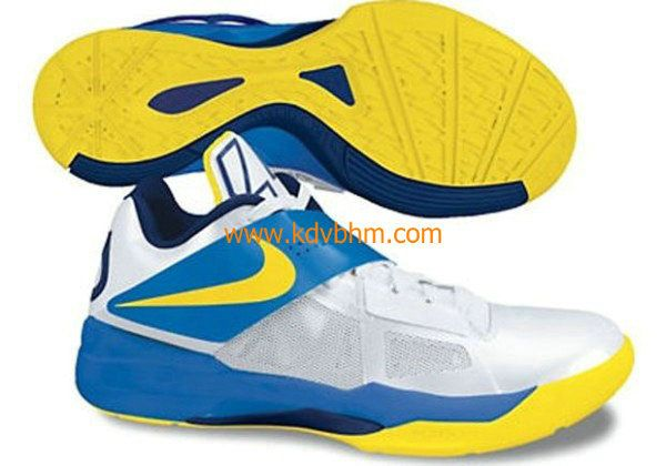 New Kevin Durant shoes KD IV White Tour Yellow Photo Blue Midnight Navy 473679 102