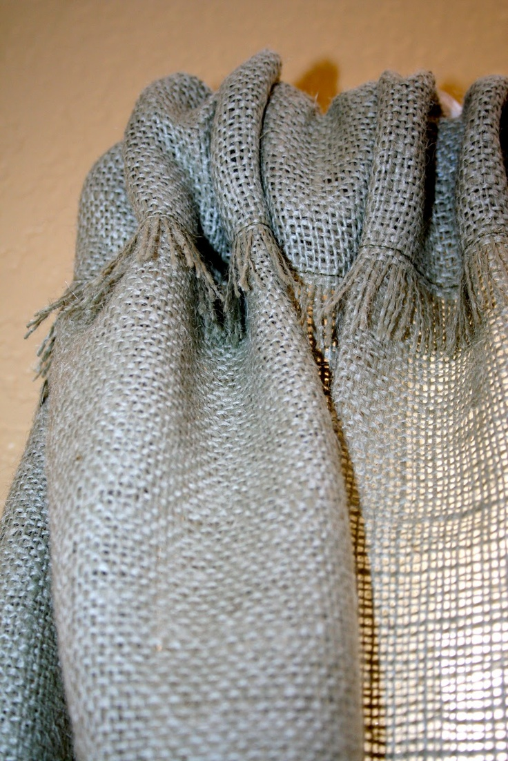 burlap curtains | Burlap Curtains I like the exposed fraying
