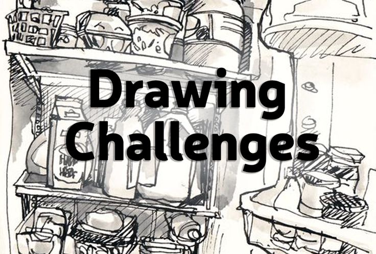 81 Best Drawing Challenges Images On Pinterest   Drawing ...