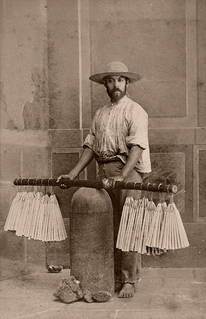 Vendedor de velas (Velero) en México, alrededor de 1860.