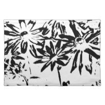 Transparent flowers cloth placemat
