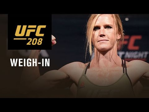 UFC 208 - OFFICIAL WEIGH-IN HOLM VS RANDAMIE