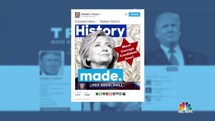 Donald Trump Tweets Image of Hillary Clinton With Star of David