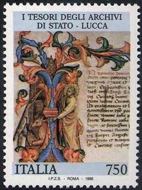I tesori dei musei e degli archivi nazionali - Archivio di Lucca - Incipit dello Statuto di Lucca
