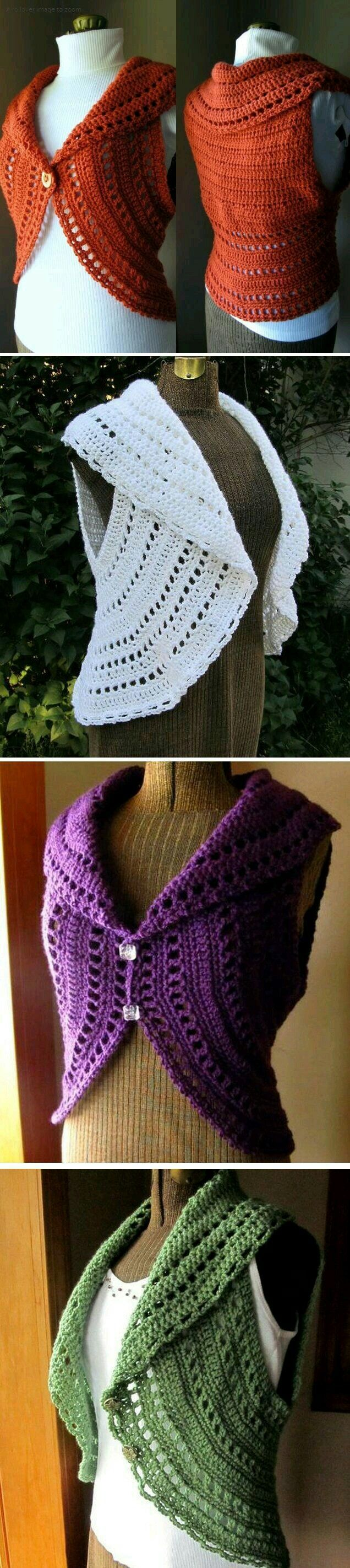 35 besten crochet circle vest Bilder auf Pinterest | Häkeln ...